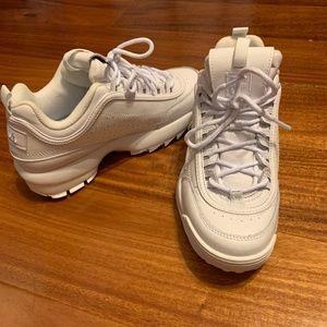 FILA Disruptor 2 Premium Mono Sneaker (all white)